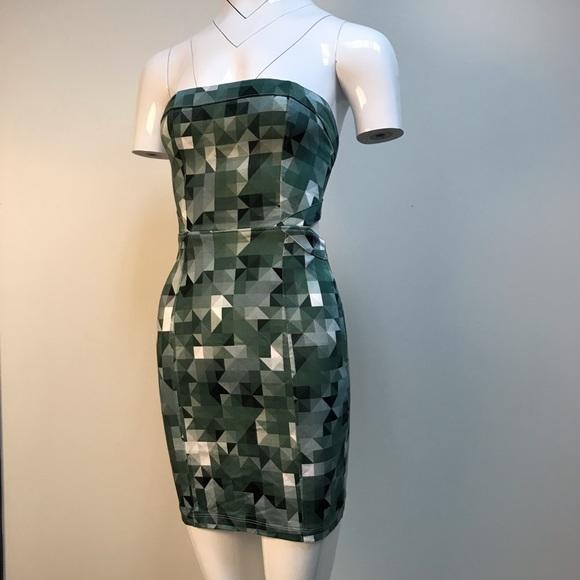 510a6351e638 Motel Rocks Dresses | Pixel Army Print Tube Top Mini Dress | Poshmark
